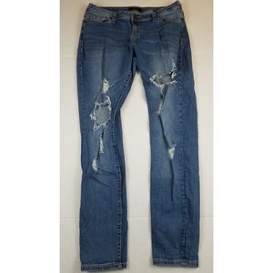 Poetic Justice Jeans - Poetic Justice Maya Ripped Skinny Jeans